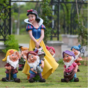 Garden Sculpture Snow White and the Seven Dwarfs statue for sale