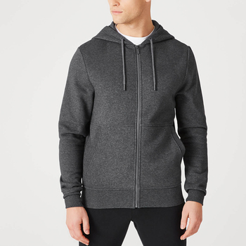 2019 wholesale custom 4xl grey zip hoodie for men from Professional Factory