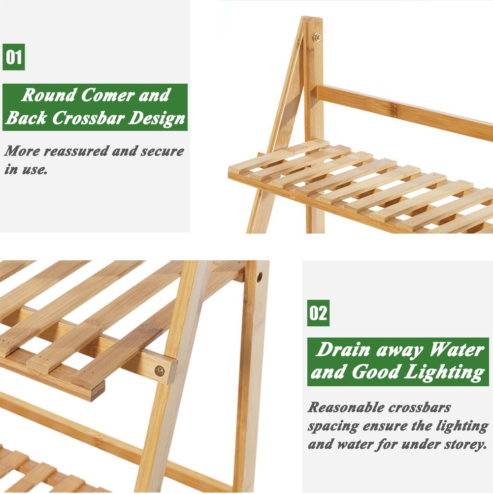 High Quality bamboo display rack 5