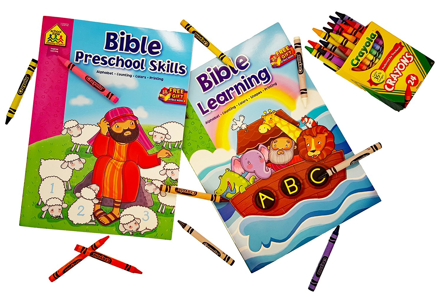 Buy Bible Learning Coloring Books  Set of 2 (Alphabet