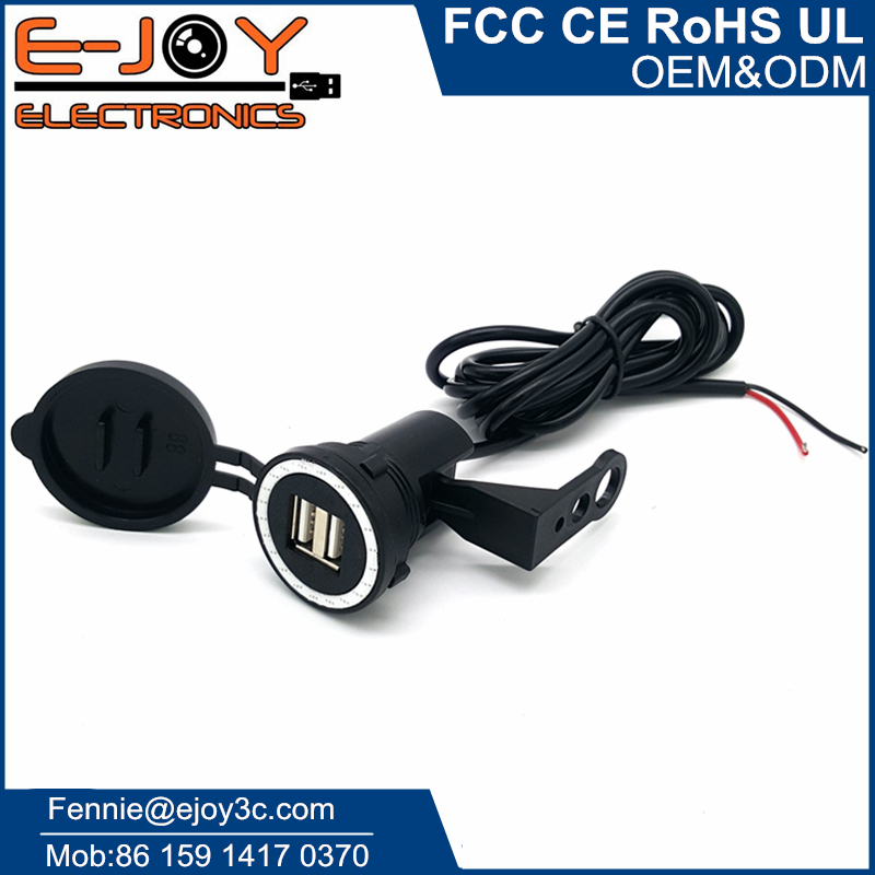 9v to 24v waterproof motorcycle cell phone charger for gps camera
