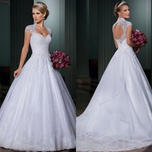 Luxusní princeznovské svatební šaty s krajkou z Aliexpress