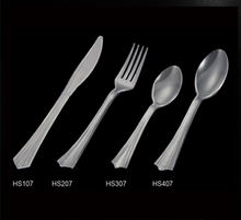 Plastic PS disposable cutlery, mermaid tail handle, fork/knife/spoon/teaspoon