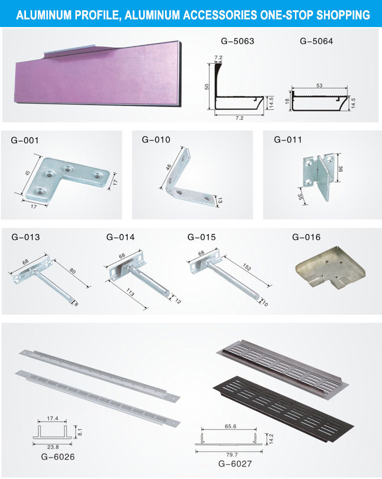 Alibaba Beixian Kitchen Cupboard Aluminum U Channel Profile