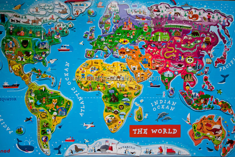 Laminated Paper World Map Magnetic Jigsaw Puzzle Mat Buy - Magnetic us map puzzle janod