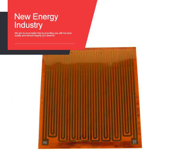 The lithium battery heater polyamide heater with 3M adhesive tape