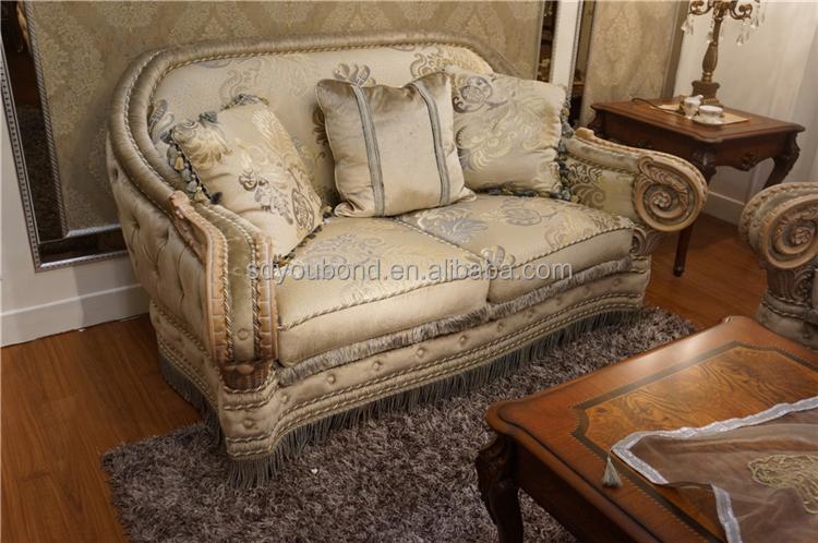 10055 Luxury Arabis Sofa Set Fabric Sofa European Antique