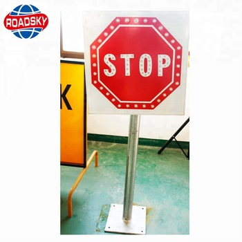 Vintage Aluminum Metal Traffic Signs For Road Safety Safety Road