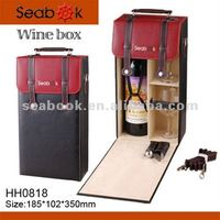 2015 Natural Wood Single Bottle Wooden Wine Box carrier box