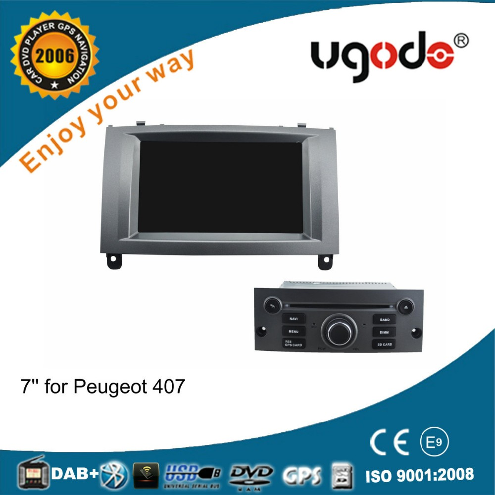 ugode OEM Android capacitive touch screen for Peugeot 407 car audio system 5.1