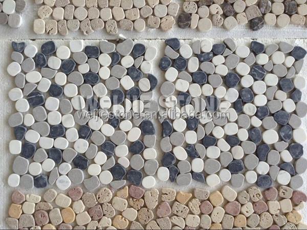 Pavimento Bianco E Grigio : Grigio bianco e nero marmo rotto mattonelle di mosaico per il