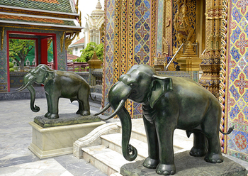 Charmant Outdoor Garden Decoration Metal Bronze Thailand Elephant Statue