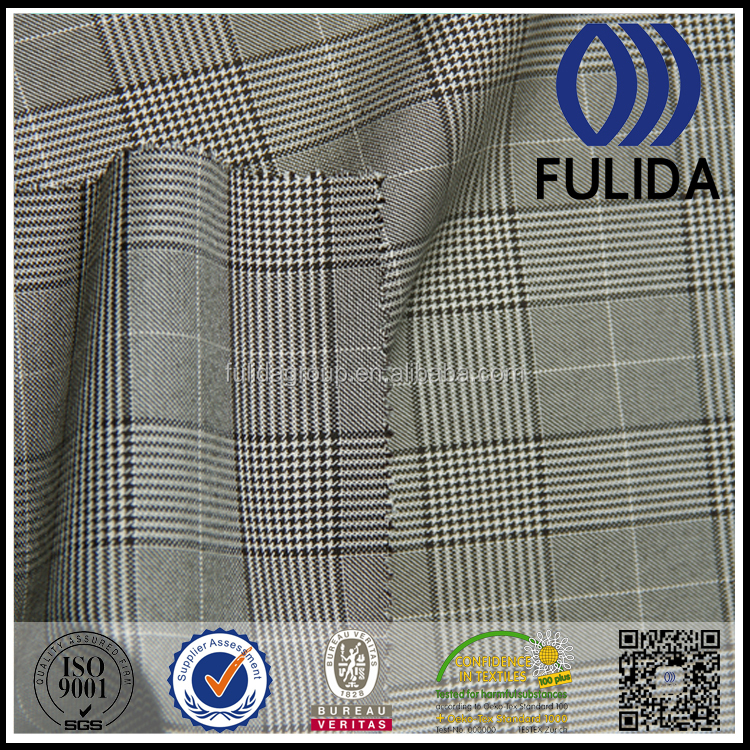 K3309 wholesale china factory check hopsack suiting fabric