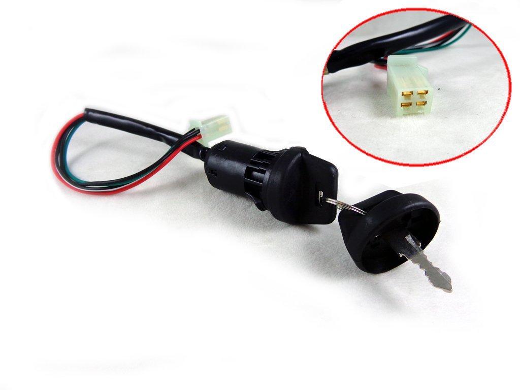 Buy 4 Wire Ignition Key Switch With 2 Keys For 50cc 110cc 125cc Eton Atv Wiring 150cc 200cc 250cc