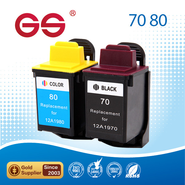 ink cartridge for Lexmark 70/80 color imaging for printer spare parts for Z11 Z31 Z42 Z43 Z45