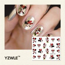 YZWLE 1 Pcs Nail Art de Água Adesivos de Unhas Beleza Wraps Foil Polonês Decalques Tatuagens Temporárias Watermark (YZW123)