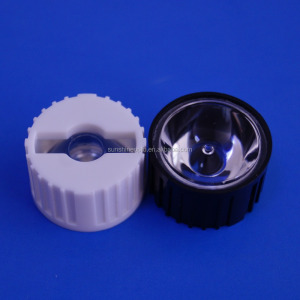 High quality clear Diameter 20mm spot projector led optical focusing lens for 1W 3W rgb led