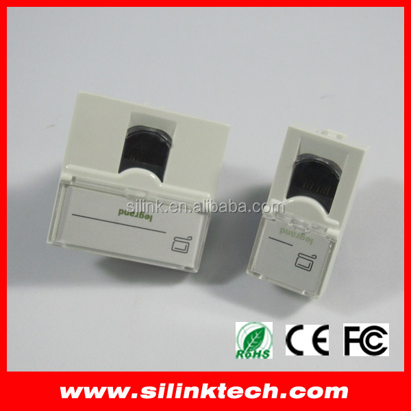 OEM CAT6 Keystone Jack with faceplate 45*45mm