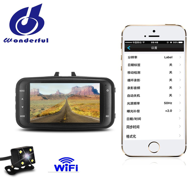 Fast speed 4G dual lens car camera 720P 30FPS with wifi function