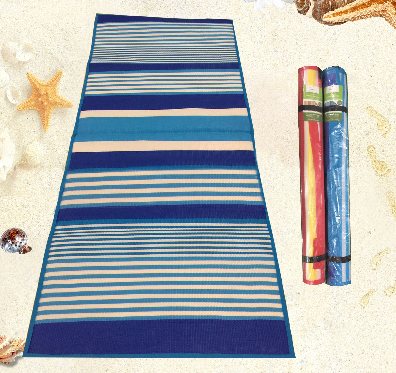 Zand proof waterdicht camping picknick lounge rolling up strand mat