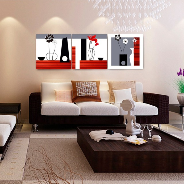 Abstract Wall Painting Designs Flower Pot Canvas Easy