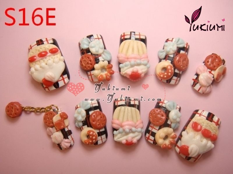 Japanese 3d Nails Deco Den Kawaii Nails Hand Made Nails - Buy ...
