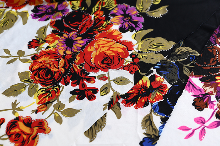 2019 most prevalent Printed Twill dress floral knit fabric for shirt