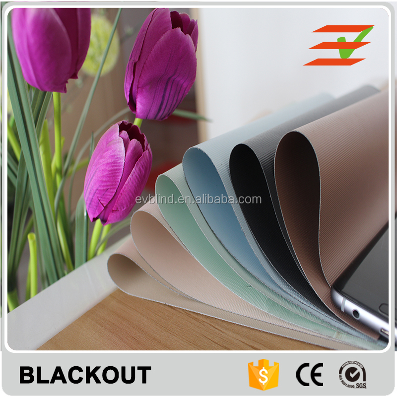 100% Polyester Blackout Roller Blinds Shade Fabrics For Home Decoration