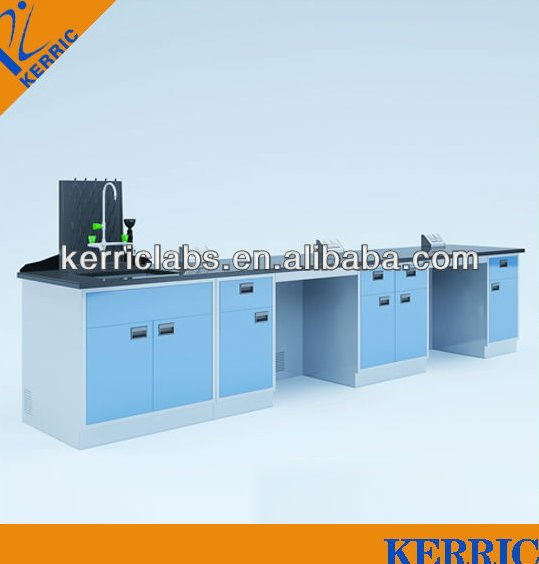 chemical laboratory furniture/steel-wood work bench for school