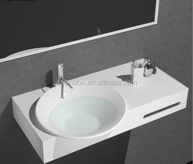Made in China bathroom wash basin sink set,vanity sink,solid surface wall mounted hand wash sink