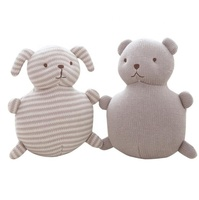 Cute doll comforters knitting wool animal shaped funny stuffed toy