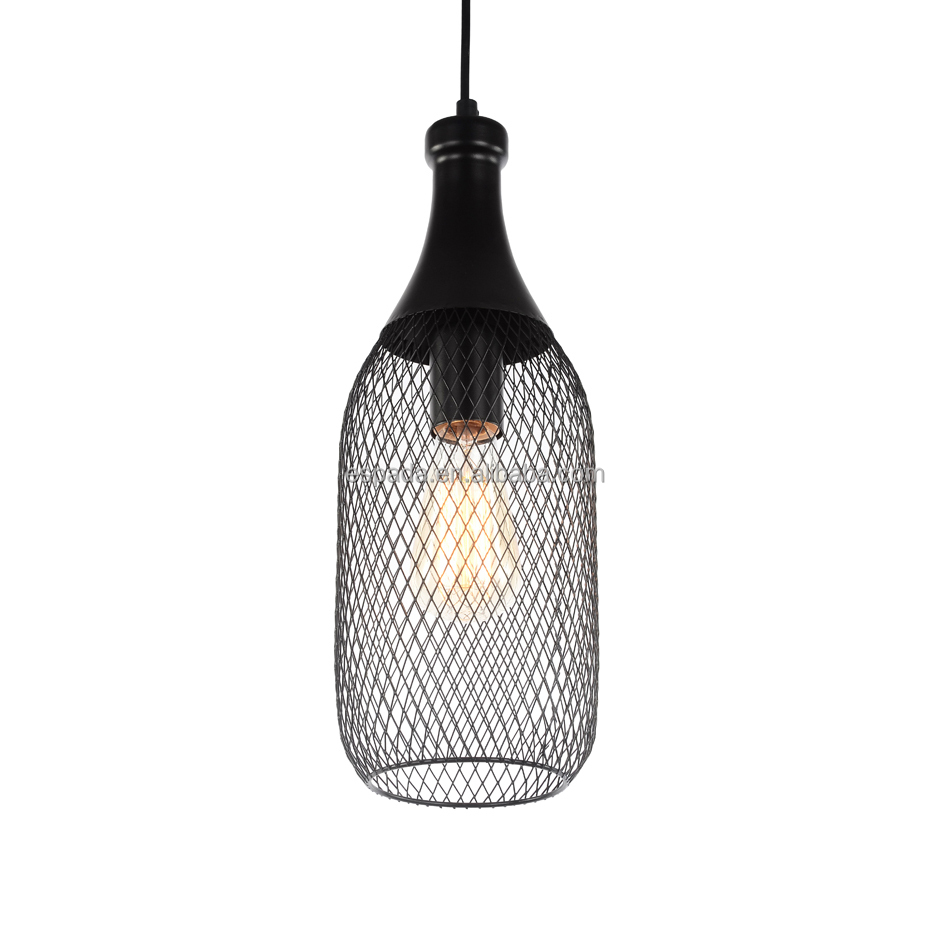 Black Wire Mesh Pendant Lamp - Buy Black Mesh Pendant,Wire Mesh ...