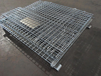 Warehouse storage customized welded wire cage gabion baskets wire mesh containers