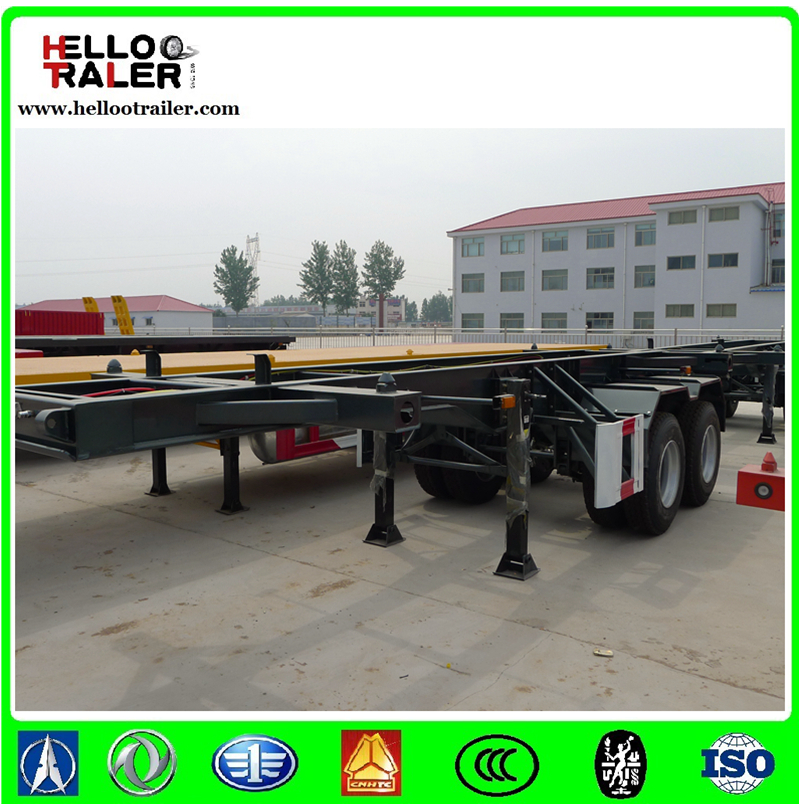 3 Axle Skeleton Trailer Frame for Container Transport
