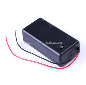 9V Battery Holder Box Case with Wire Lead ON/OFF Switch Cover