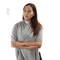 Inner mongolian 100% pure cashmere knitted shawl TC180