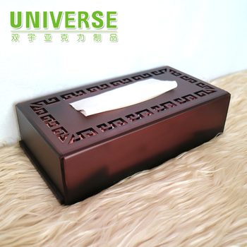 UNIVERSE facial acrylic tissue box custom lucite PMMA napkin holder