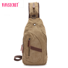 China wholesale fashion unique outdoor hipster sling cross body bag augur canvas bags chest pack messenger bag khaki