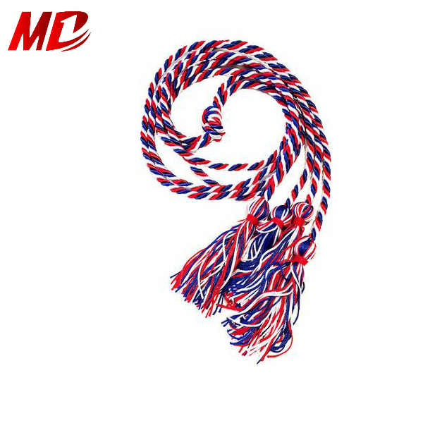 Rayon double color graduation rope college honor cord