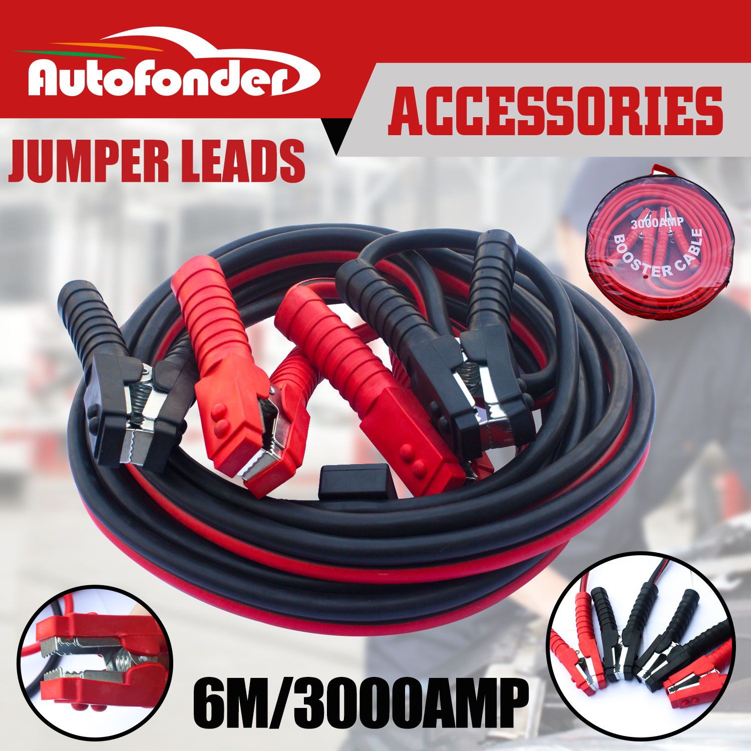 3000 AMP Jumper 6M Cable Booster Cable