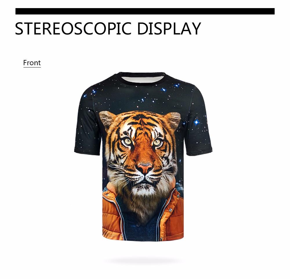 FORUDESIGNS Funny 3D Muscle Print T Shirt For Men Designer
