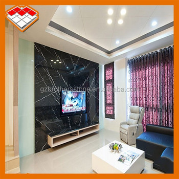 Tv Background Wall Design Black Marquina Marble Buy Tv