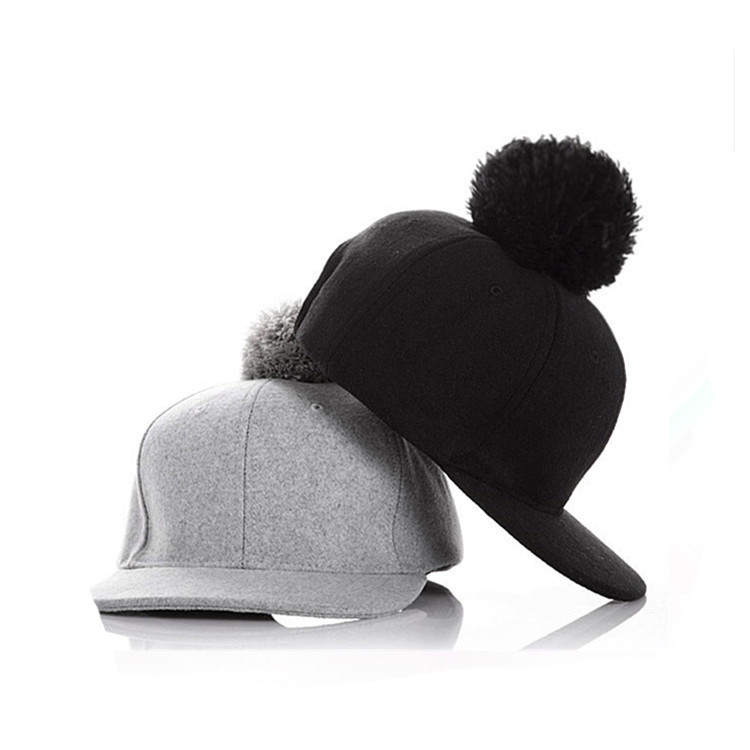 hot sale warm cheap custom hip hop pom pom low profile snapback hat
