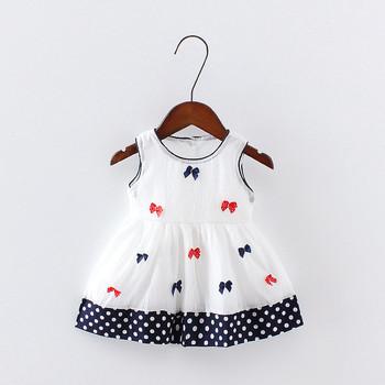 6c36dd0fcb2f Summer Kids Dress Girls New Fashion Small Bow Striped Dress Princess ...