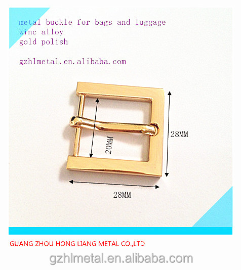 20mm square strap fastener metal pin buckle for bag,hand bag