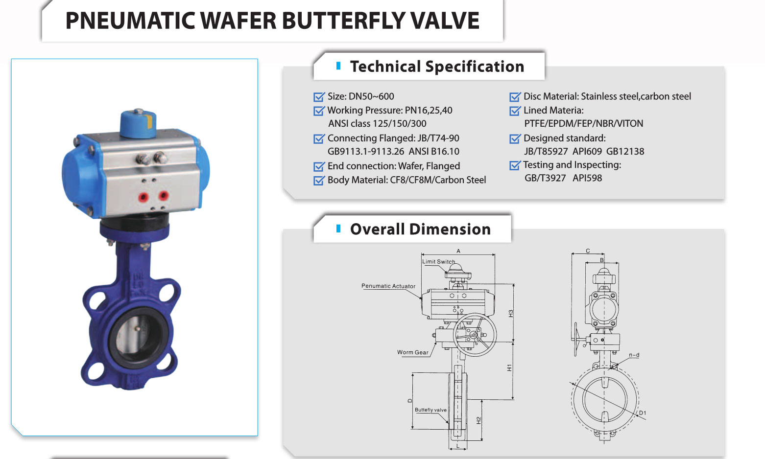 Butterfly Valves With Rotork Pneumatic Actuator Klqd