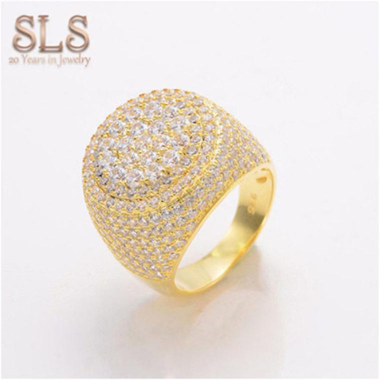 Amazon Alibaba Best Seller Diamond Rings Gold Rings For Men From