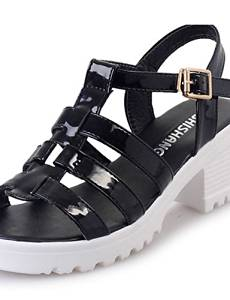 Get Quotations · VU*LK Women's Clogs & Mules Summer Toe Ring PU Casual  Chunky Heel Others Black