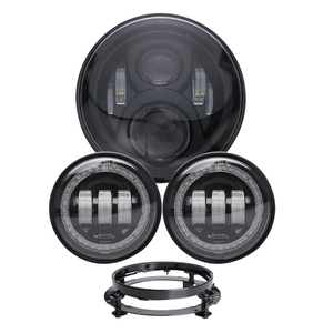 Cost-effective a series of motorcycle light kit 1 pair 4.5'' fog light, 60W 7' led round headlight