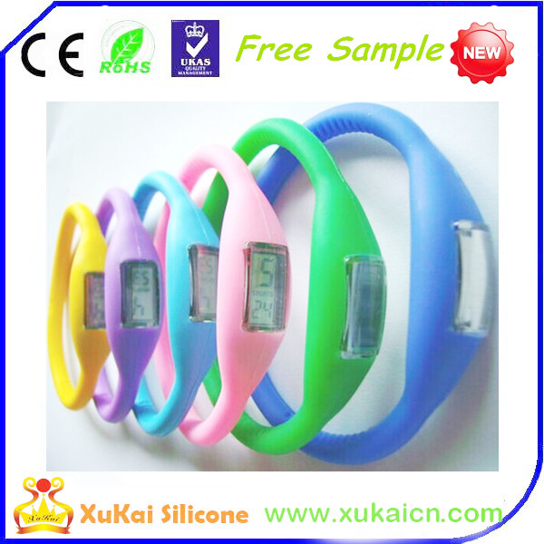 colorful silicone watch wristband with waterproof